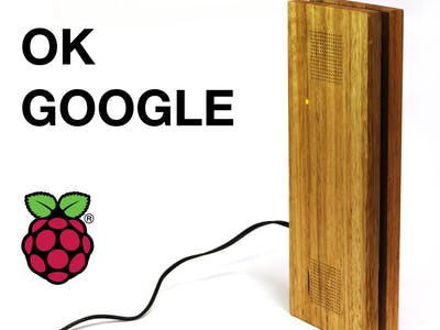 Raspberry Pi Google Assistant With Sleek Wood Box