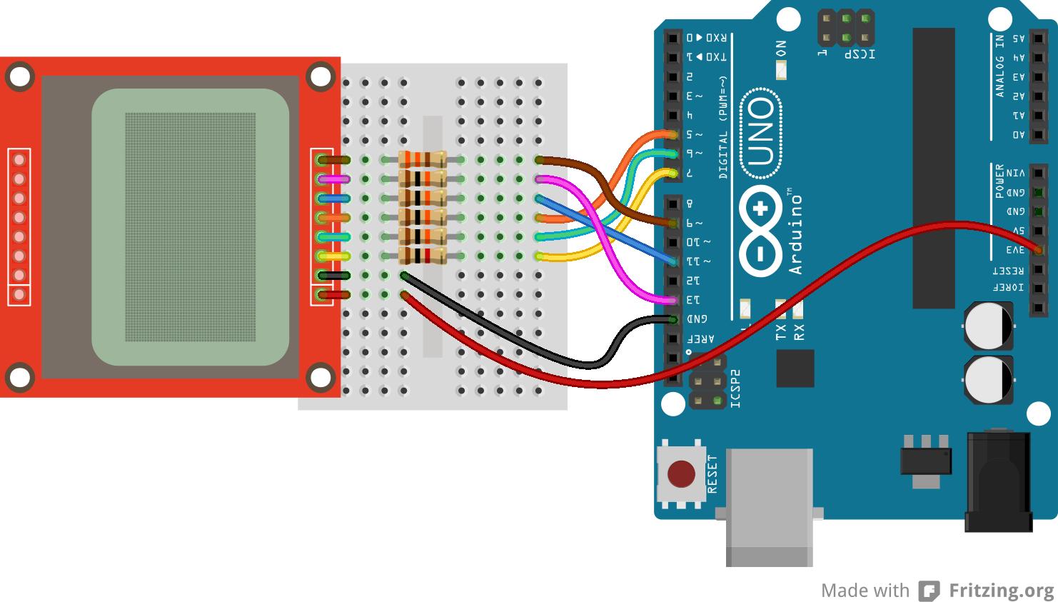 Get Nostalgic And Use Nokia 84x48 Lcd With Arduino Circuit Diagram 1600 Schematics