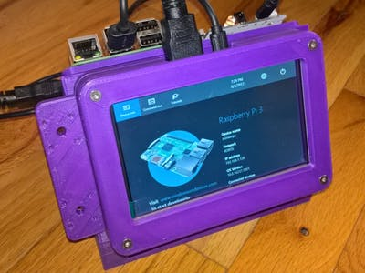 """3D Printed Case for a RaspPi 3, an Arduino and a 5"""" Display"""