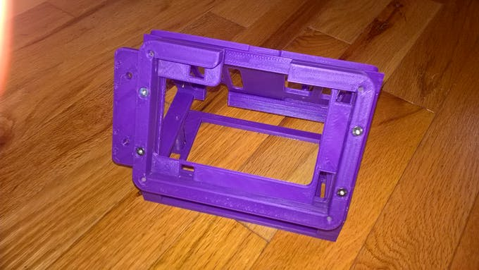 """Brackets to hold the 5"""" display and the LED holder (bolted together)"""
