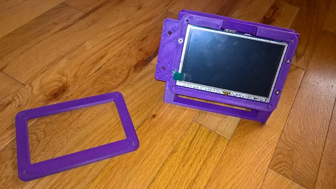 """The display bezel and the case with the 5"""" display"""