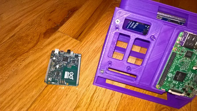 The assembled case and the Arduino