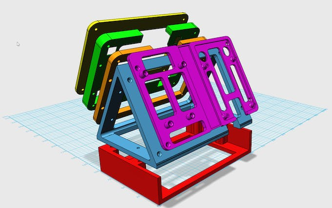 Exploded view of the case that I'll print.