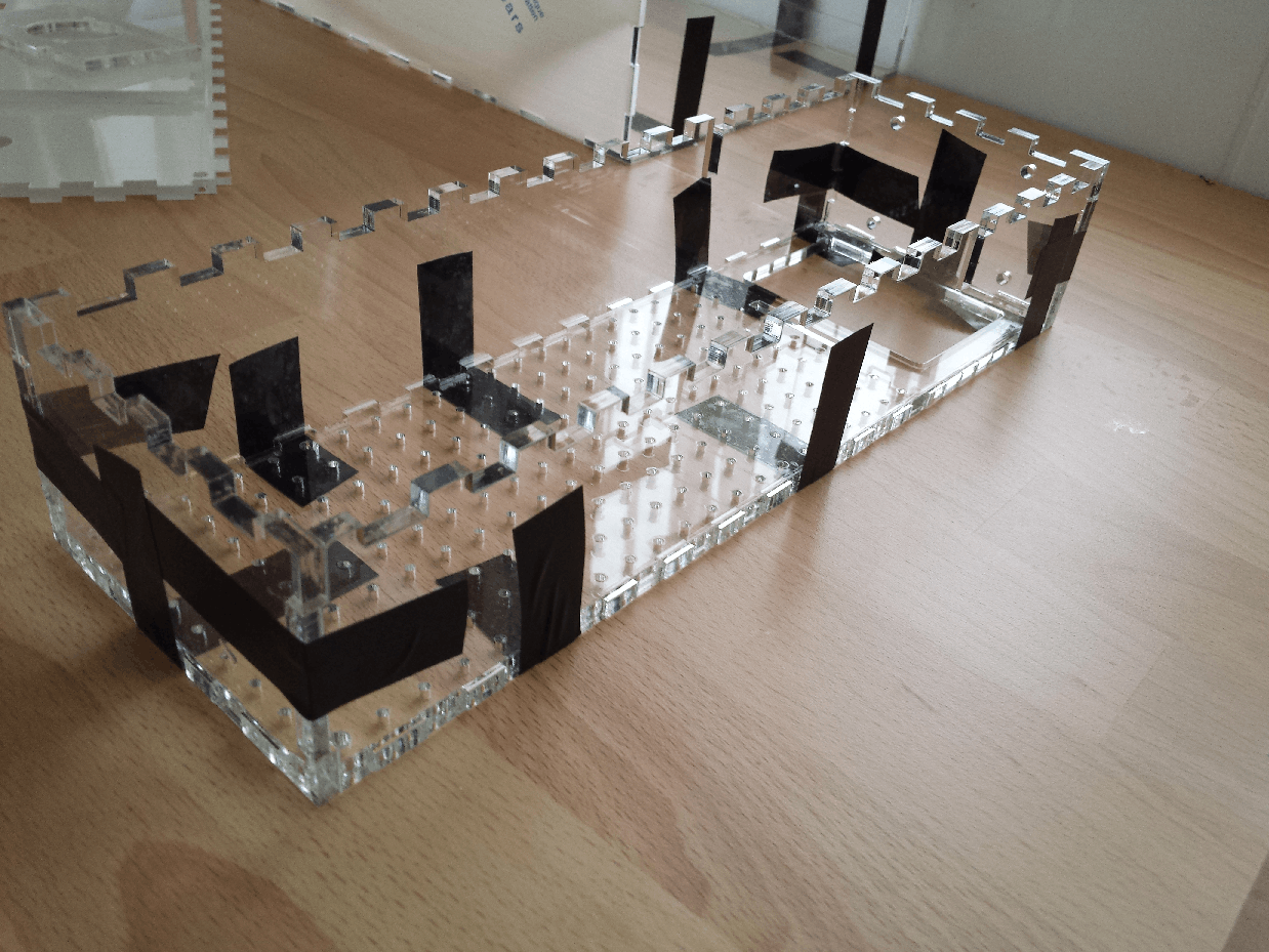 Gluing the Acrylic case