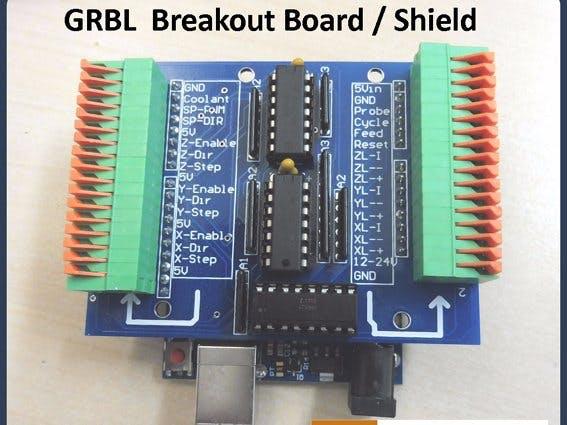GRBL  Breakout Board/Shield Arduino Uno