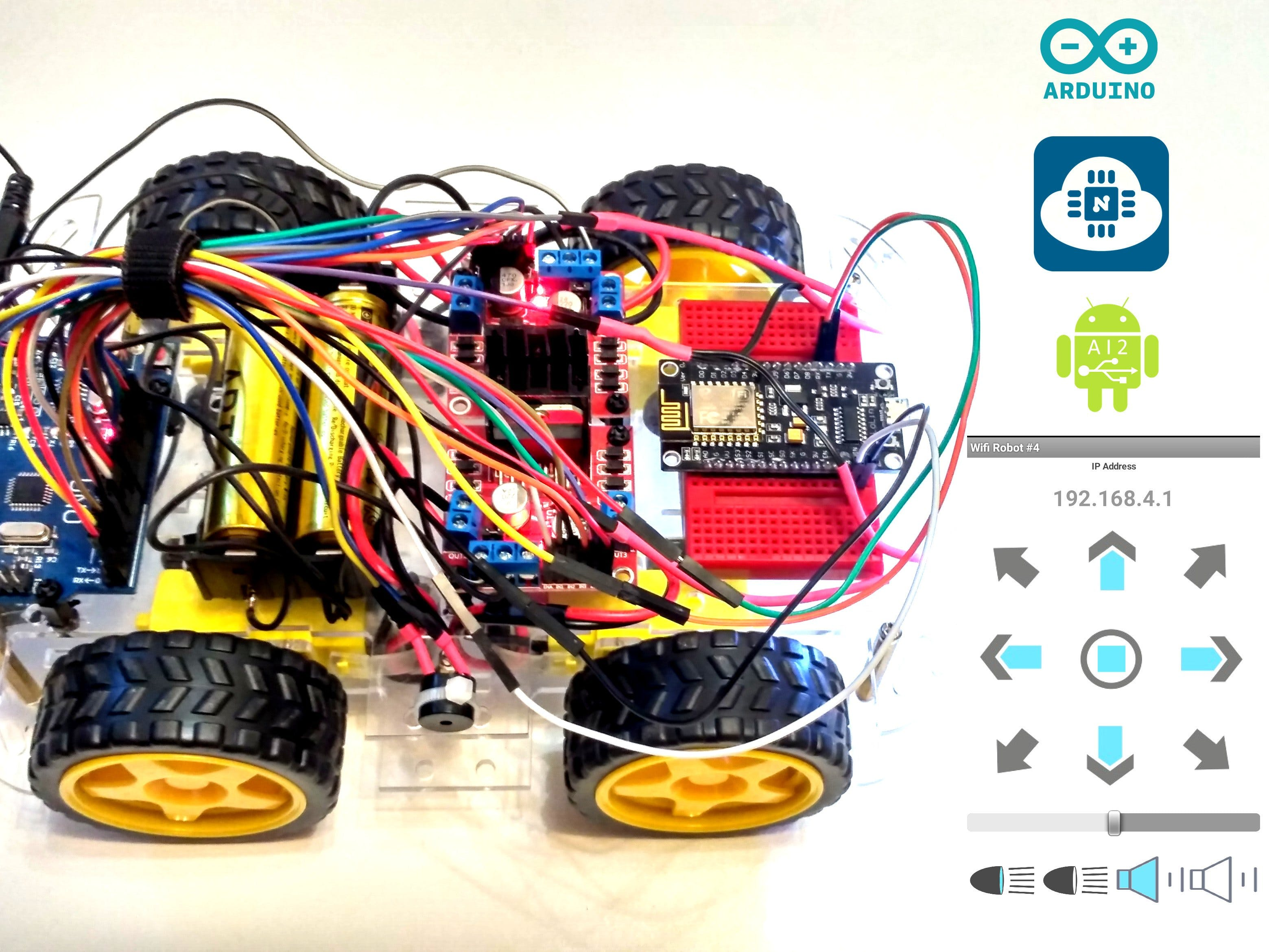 From BT To WiFi: Creating WiFi Controlled Arduino Robot Car