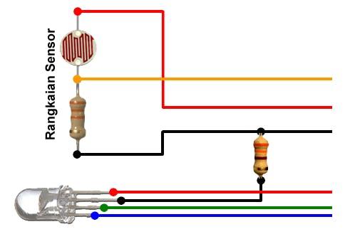 Gambar rangkain sensor warna