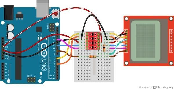 2/2 Bi-Directional Logic Level Converter and it's Hookup Diagram