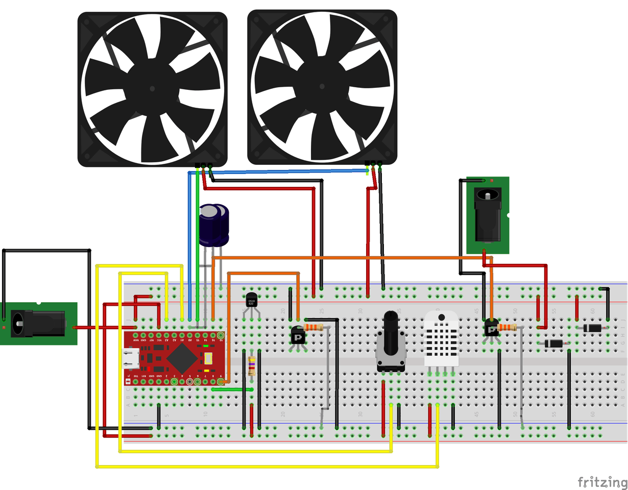 Vivarium Temperature And Humidity Control With Arduino Monitor Heater Fan Wiring Diagram