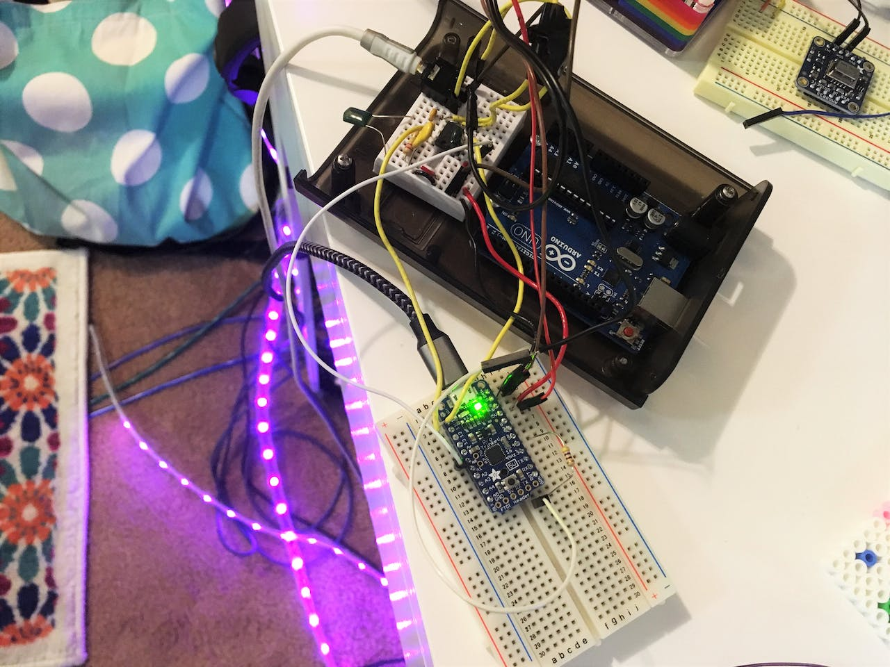 Audio Spectrum Reactive Neopixels In A Pc High Power Rgb Led Color Mixing Digikey