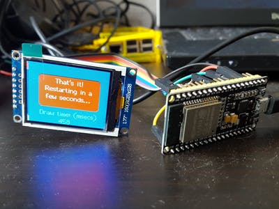 Cheap 1.77 Inch TFT-screen on ESP32
