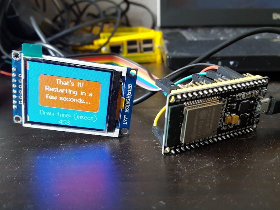 Cheap 1 77 Inch TFT-screen on ESP32 - Hackster io