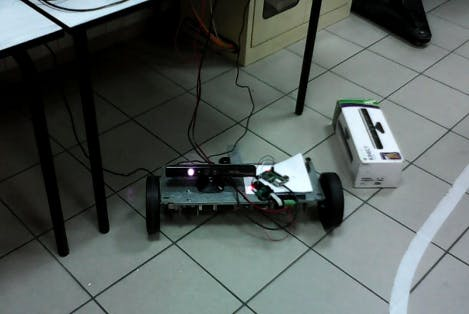 Three-wheel platform with Kinect