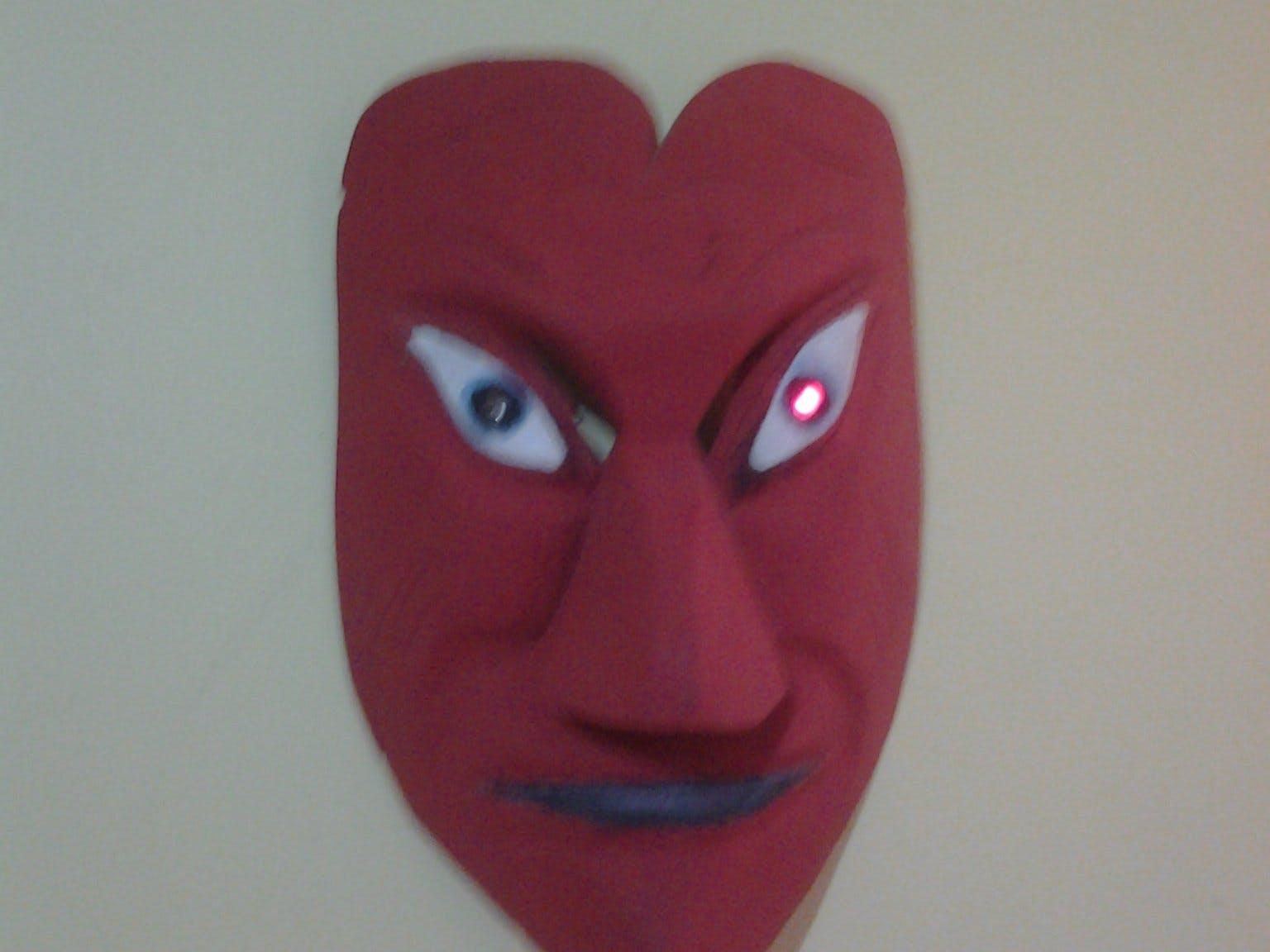 Mask with Blinking Eye