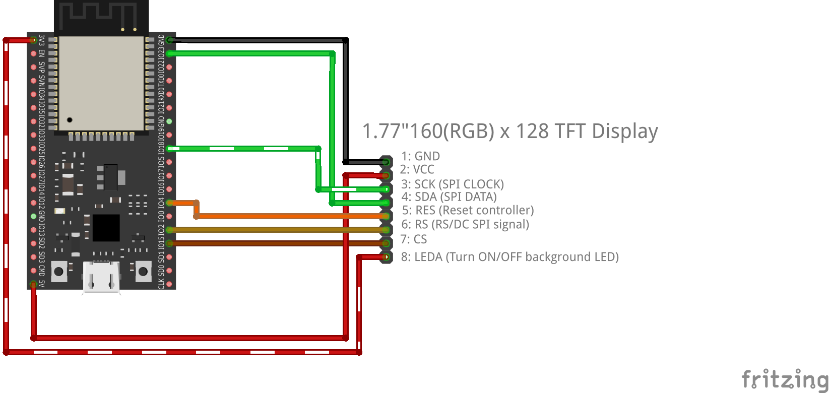 Cheap 177 Inch Tft Screen On Esp32 Lcd Wiring Diagram Aansluitschema Nccxaou150