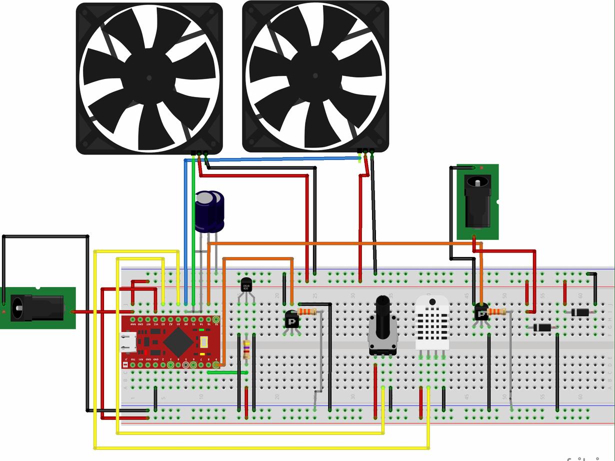 Vivarium Temperature and Humidity Control with Arduino