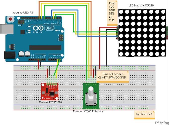 Arduino max7219 example