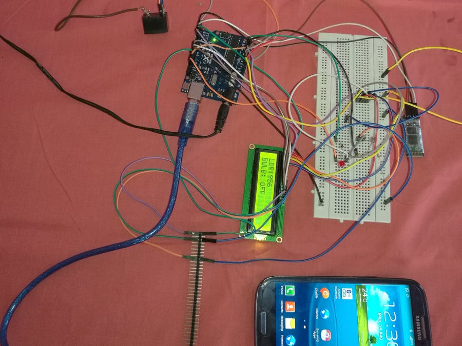 Arduino UNO Home Automation using Bluetooth HC05 module