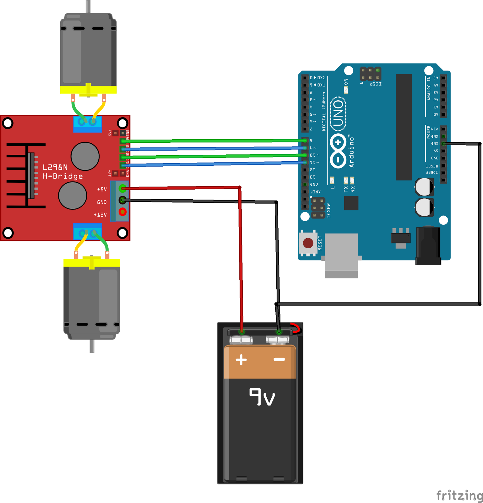 Microlab M 280 Circuit Diagram Wiring Library H Bridge For Your Robot Arduino Project Hub Rh Create Cc