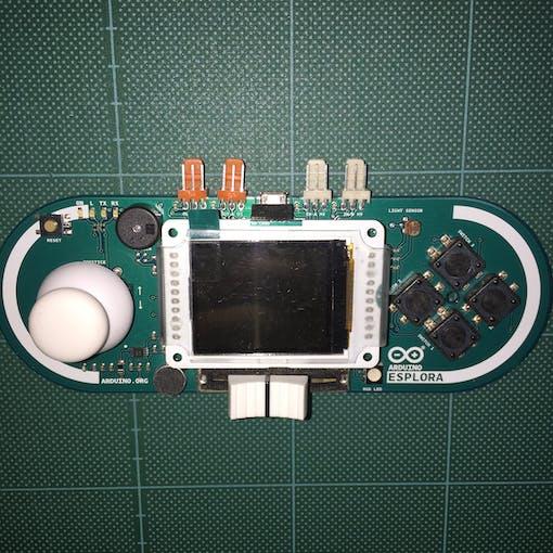 Esplora with TFT LCD