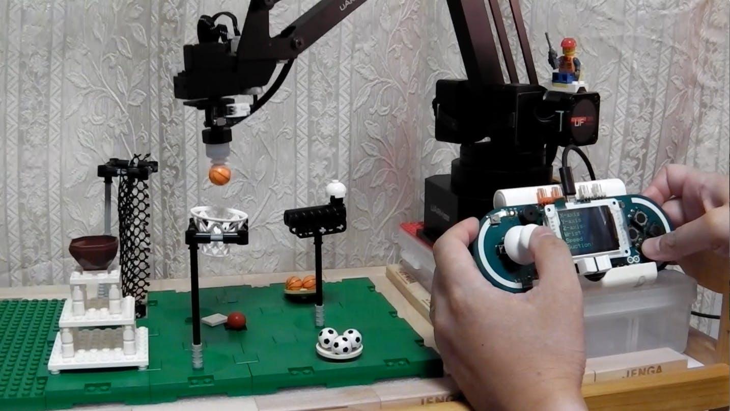 Control a Robot Arm with Arduino Esplora