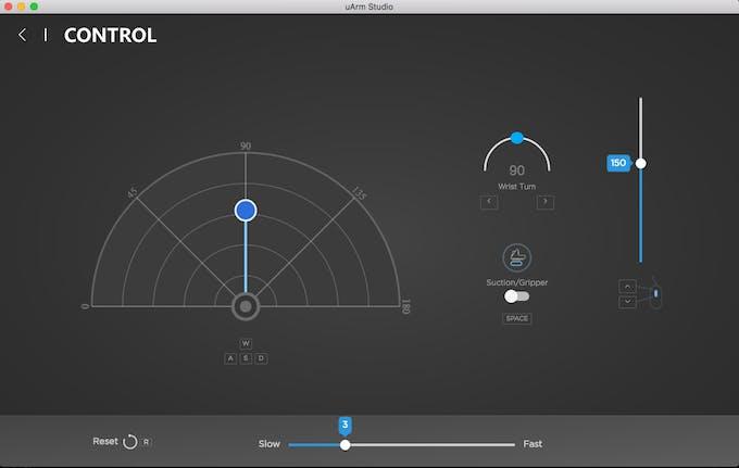 Control module in uArm Studio