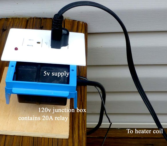 PLASTIC JUNCTION BOX (SEE ATTACHED SKETCH FOR CONTENTS)