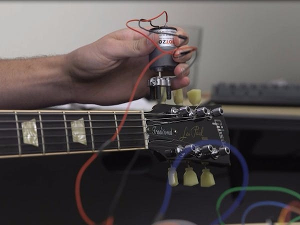 Arduino based automatic guitar tuner hackster