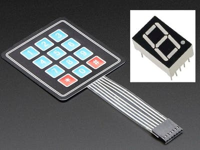 Control a 7 Segment Display with a keypad!