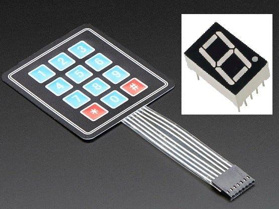 Control a 7 Segment Display with a keypad!