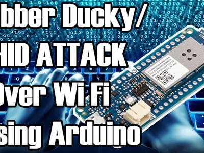 HID Attack Over WiFi Using Arduino MKR1000