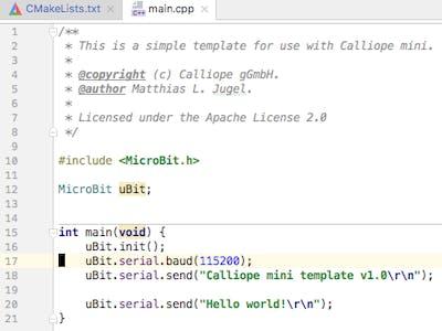 Calliope Mini C Coding Template Hackster Io