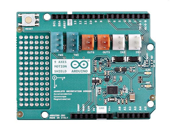 Using axes motion shield with arduino hackster