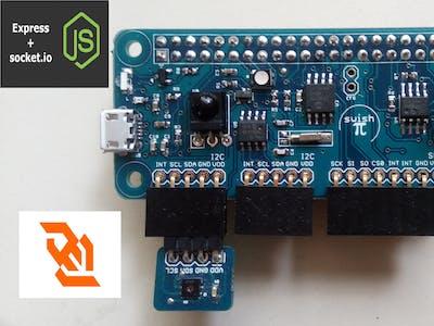 Raspberry Pi Temp/Humidity Dashboard with SwishPi pHAT.