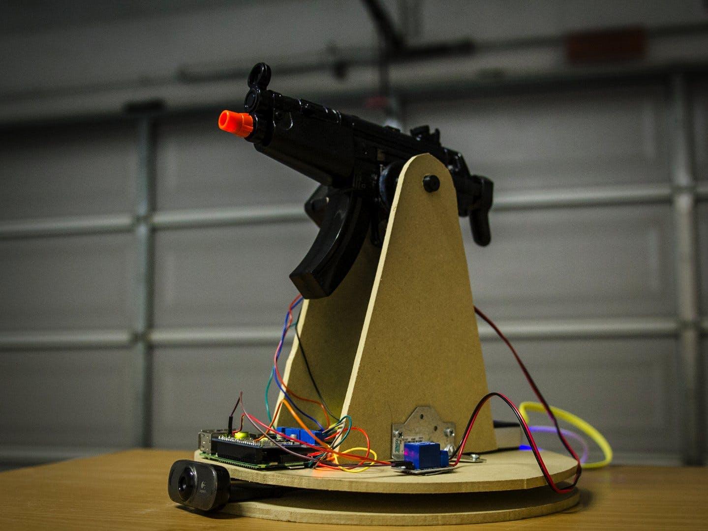 Raspberry Pi Motion Tracking Gun Turret Hackster Io