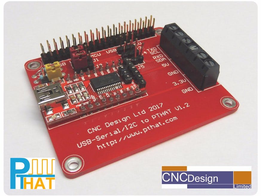 Pulse Train HAT USB to Serial/I2C Board