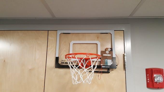 The hoop installed