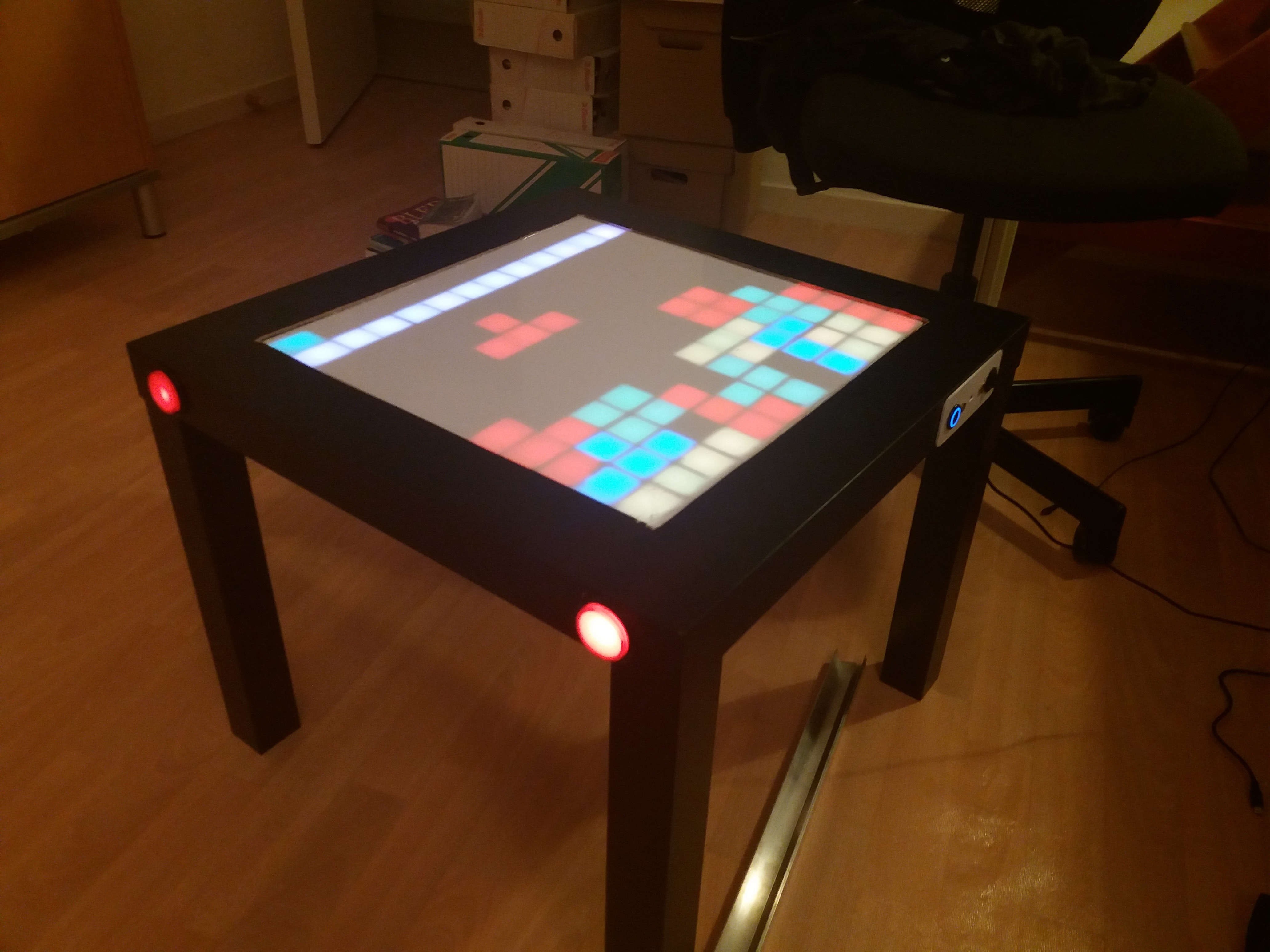 interactive led table for 50\u20ac arduino project hub