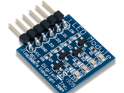 Using the Pmod LED with Arduino Uno