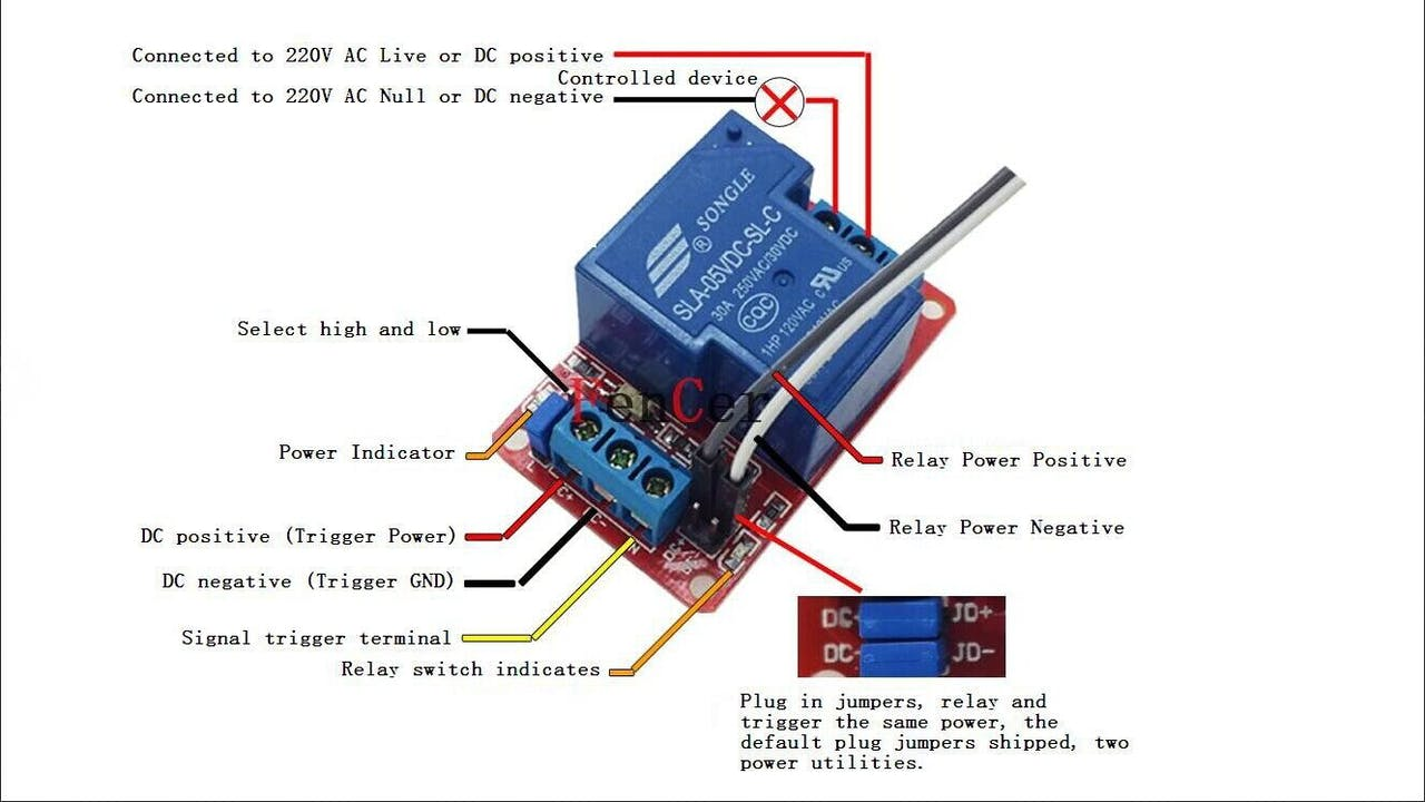 Automation Using Nodemcu 8 Pin Relay Wiring Diagram Normally Open 1 3