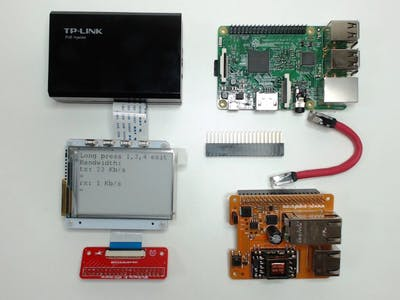 Raspberry Pi Access Point With PaPiRus And Pi PoE