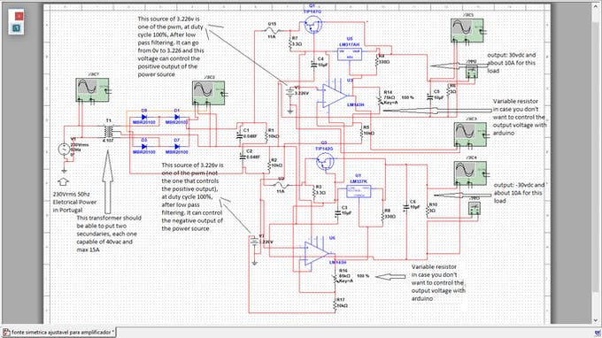 The circuit of the power supply