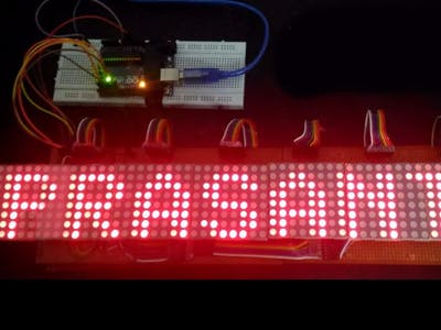 48 x 8 Scrolling LED Matrix using Arduino.
