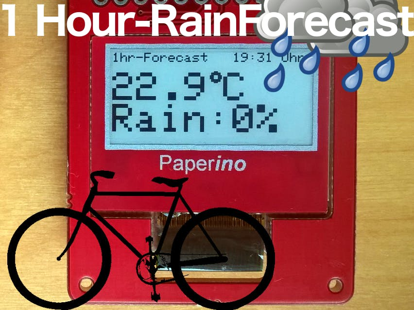 ePaper-Based Local Rain Forecast for Fair Weather Cyclists