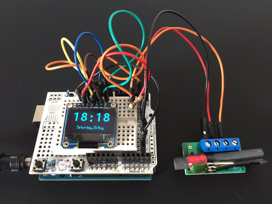 DCF77 OLED Clock - Arduino Project Hub