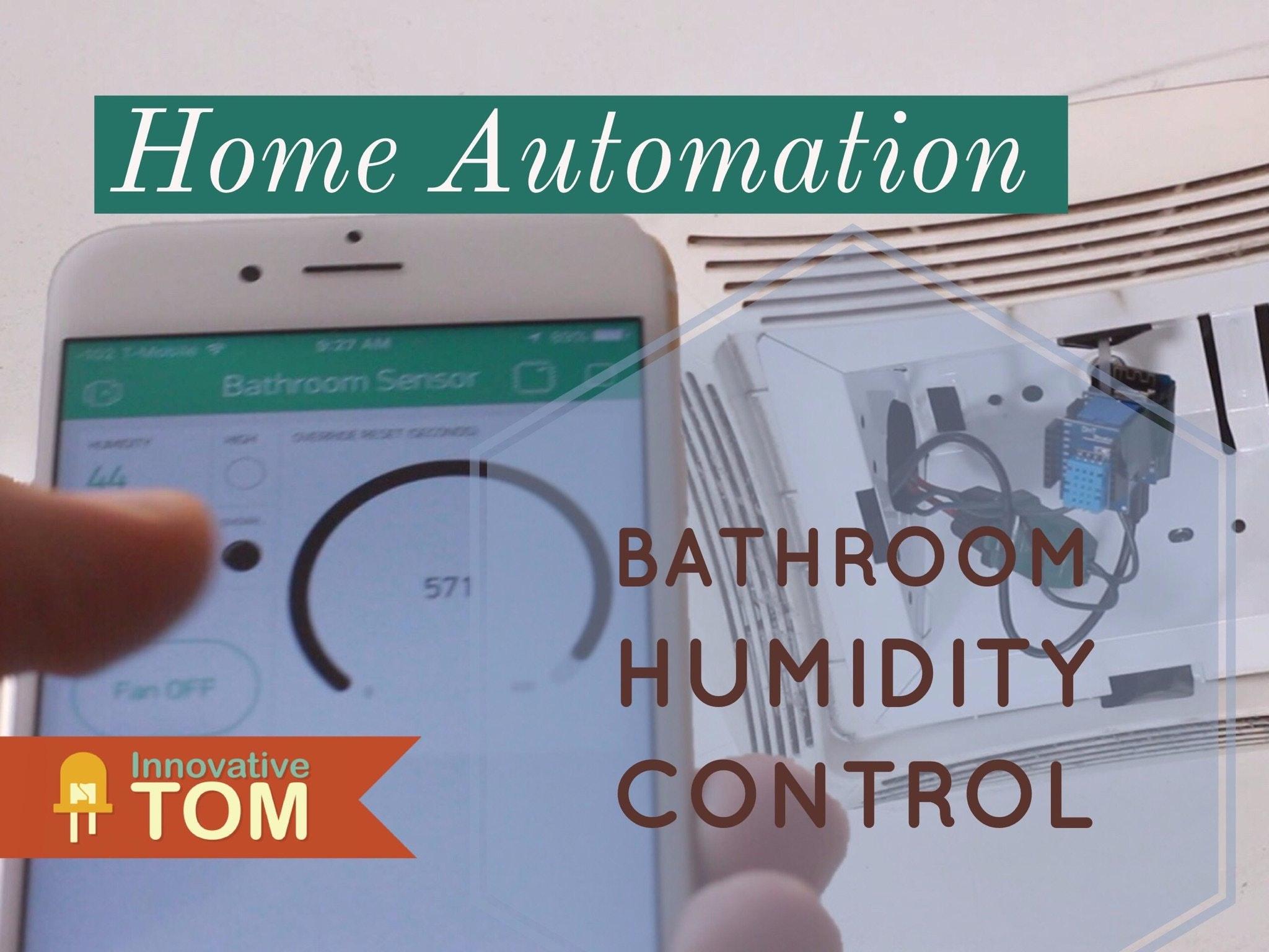 Exceptionnel WiFi Bathroom Humidity Sensor With Fan Control