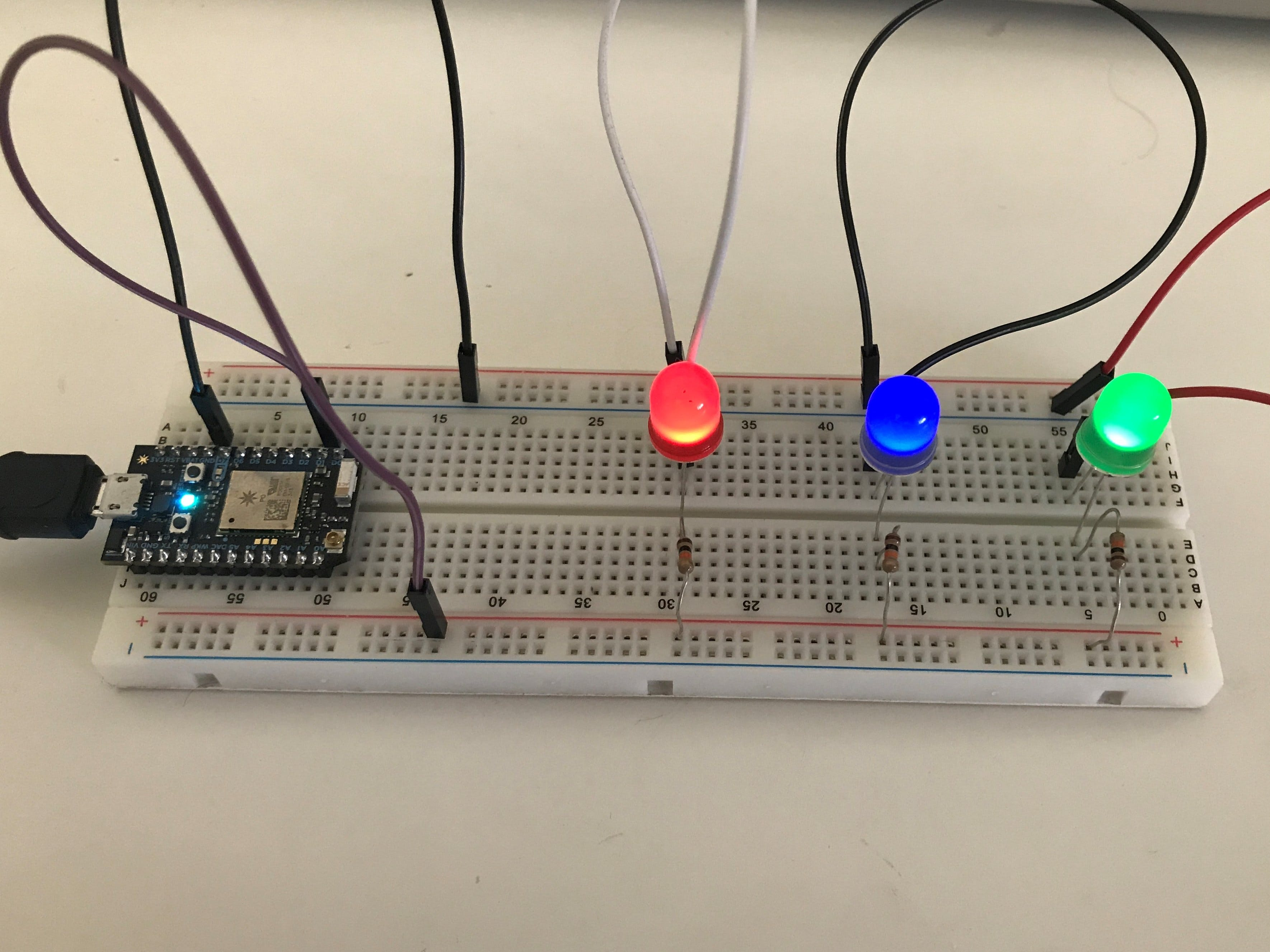 Blinking LEDs Using Particle Photon