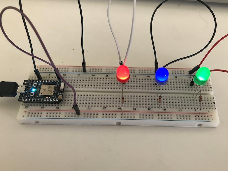 Blinking LEDs Using Particle Photon