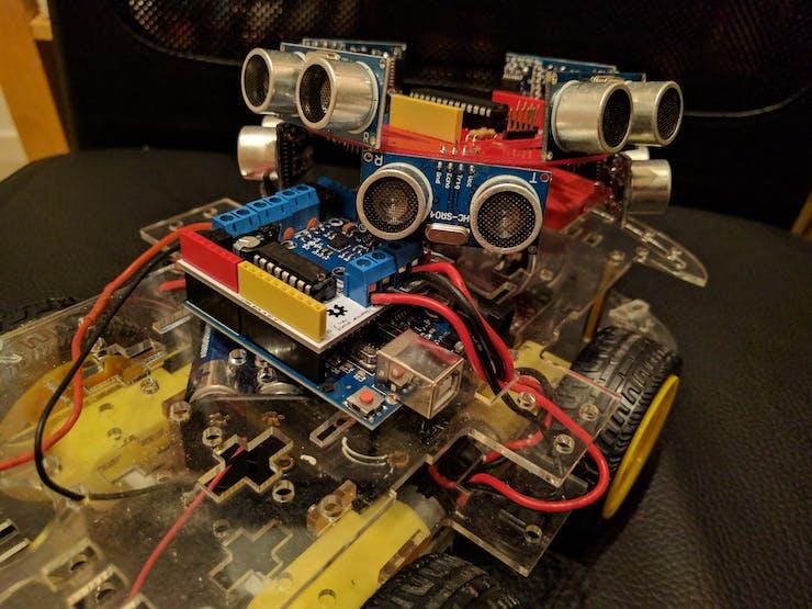 The SmartCar shield below the SonicDisc