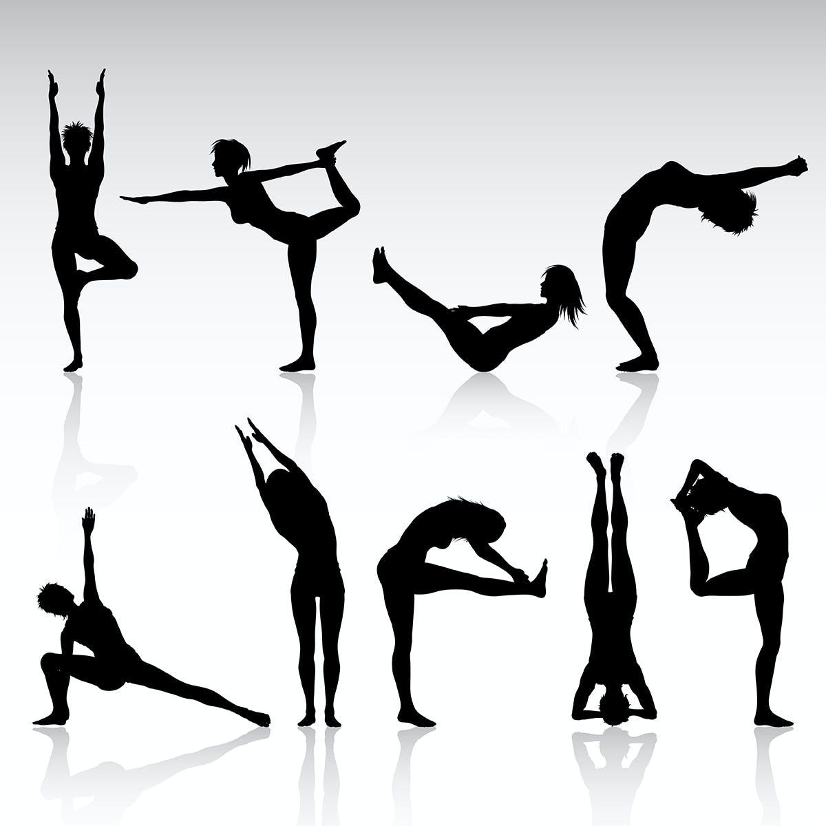 Beispiel Yoga Figuren (Bild von http://www.freepik.com designed von Kjpargeter)